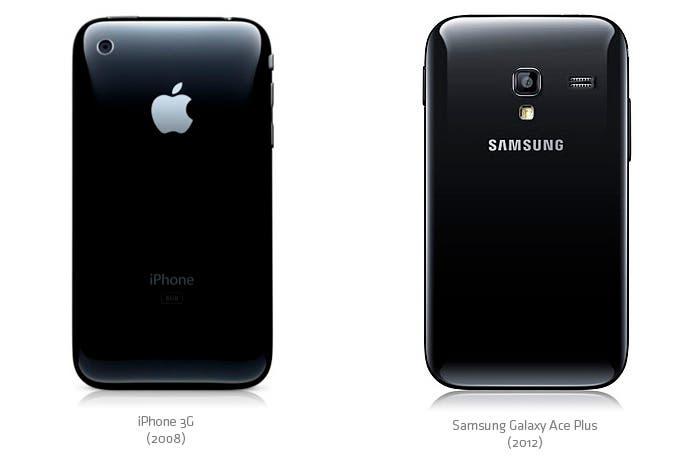 """Parecido entre el iPhone 3G y el """"nuevo"""" Samsung Galaxy Ace 2"""