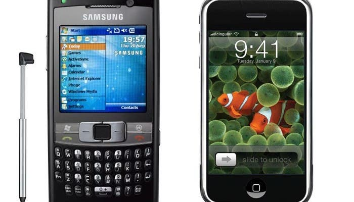 Los teléfonos que Samsung hacía antes del iPhone