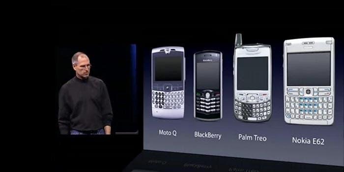 Esta era la competencia de smartphones antes del iPhone