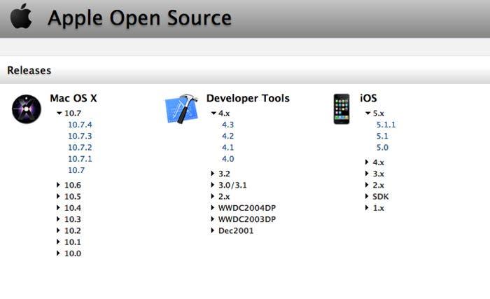 Apple libera el código de Mac OS X Lion