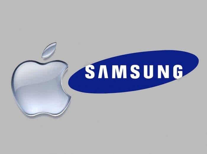 Logo de Apple y Samsung