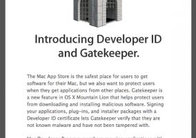 Developer ID para los desarrolladores y Gatekeeper