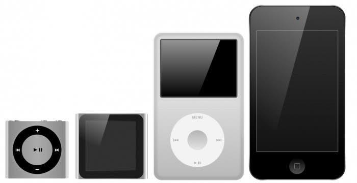 Varias generaciones de iPod