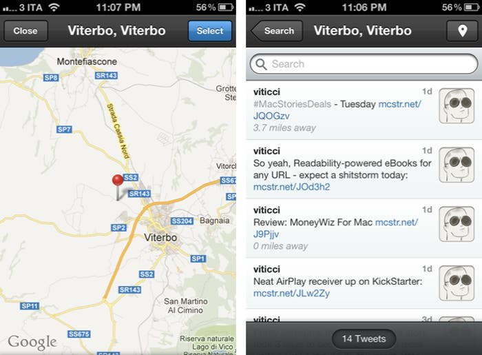 Localizar Tweets por zona