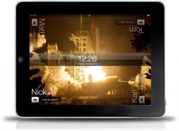Captura de prototipo soporte multiusario en iPad