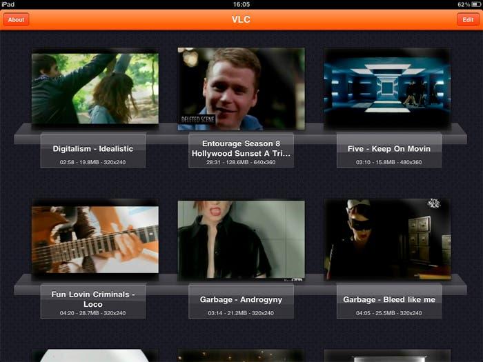 Gestor de videos en VLC