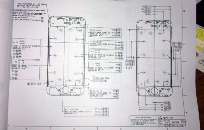 Posible plano del frontal del iPhone 5