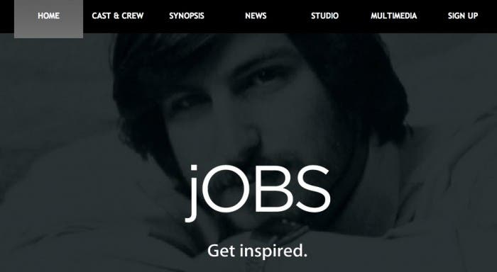 Captura web jOBS la película