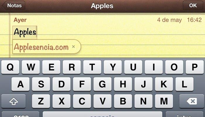 Teclado iOS