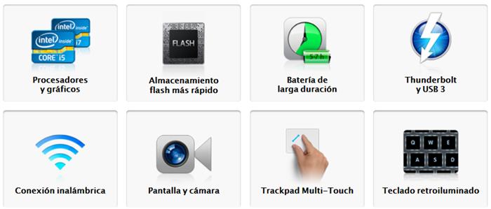 Especificaciones se los nuevos MacBook Air