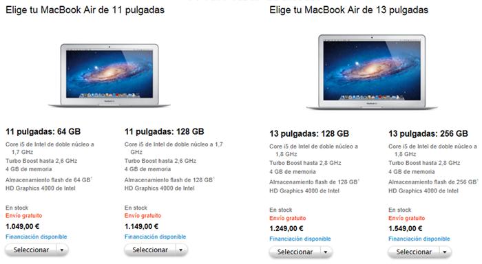Precios de los nuevos MacBook Air