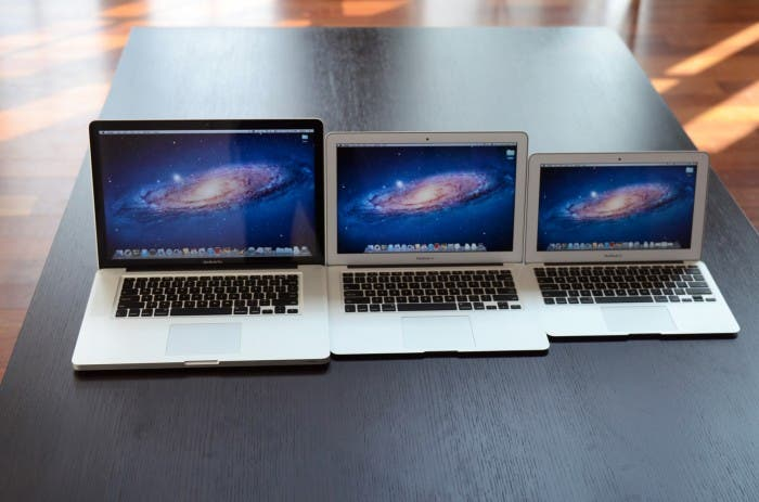 Fotografía de la gama MacBook de Apple