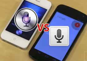 Siri y Google Search, cara a cara