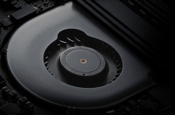 Ventilador asimétrico del nuevo MacBook Pro