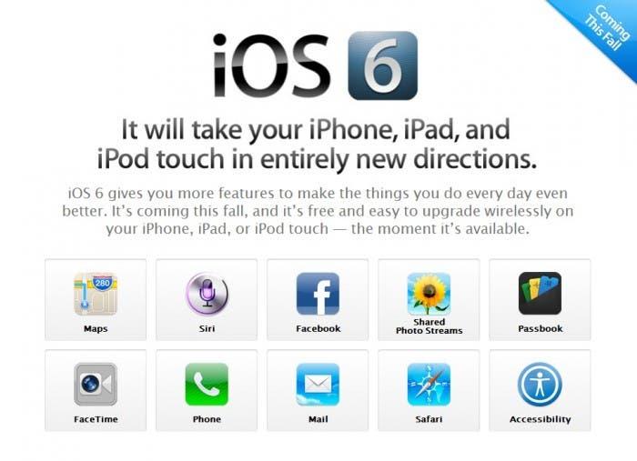 iOS 6 Novedades