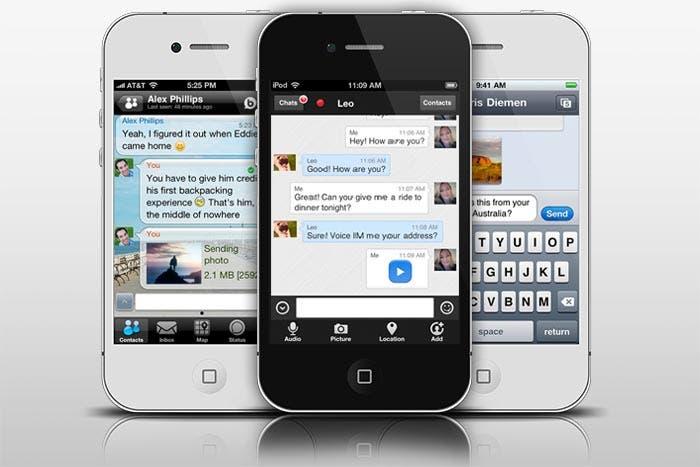 Apliacciones de mensajería instantánea para iPhone