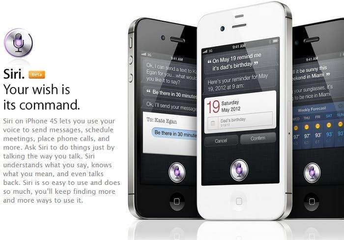Siri Dictation para iPhone 4S