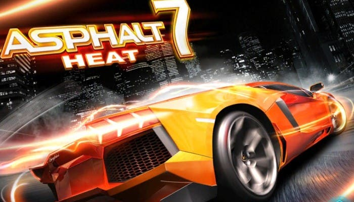 Pantalla de inicio de Asphalt 7: Heat
