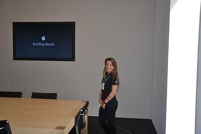 Foto de la Briefing Room de la Apple Store de Barcelona