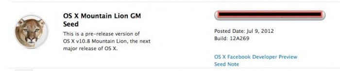 Descarga de la GM de OS X Mountain Lion