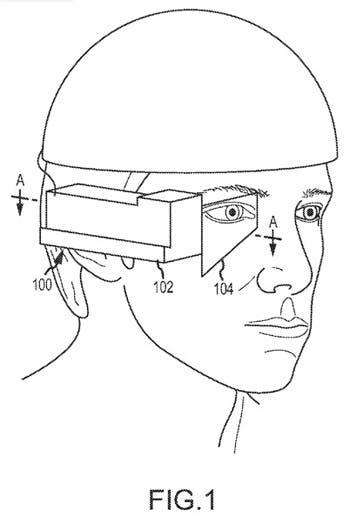 Patente que muestra las gafas de Apple