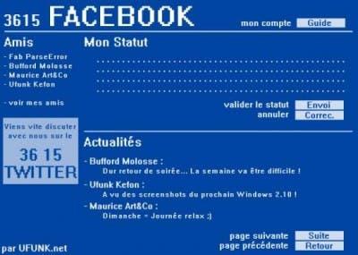 Minitel corriendo Facebook