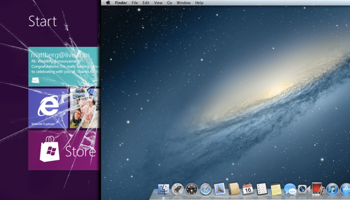 Windows 8 contra Mountain Lion