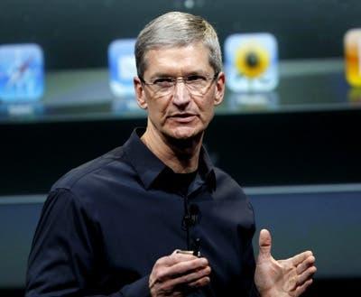 Tim Cook presentando el nuevo iPad