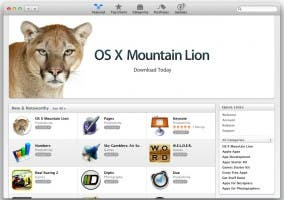 Mountain Lion en la Mac App Store