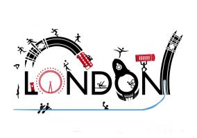 Logotipo sobre Londres con detalles de los JJOO