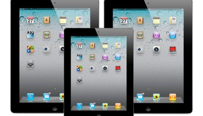 iPad de 7 pulgadas juntos a los actuales