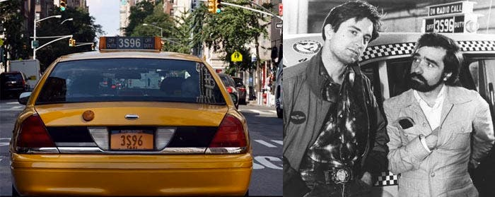 En el anuncio de Siri con Scorsese sale la misma placa de matrícula que en Taxi Driver
