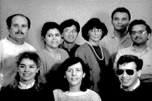 Primera imagen oculta en la ROM, con desarrolladores del Macintosh