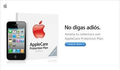Página para contratar el AppleCare