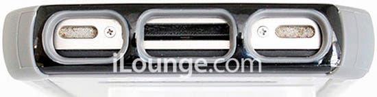 Ejemplo de bumper de nuevas formas sobre un iPhone 4S