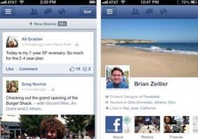 Actualización 5.0 de Facebook para iOS