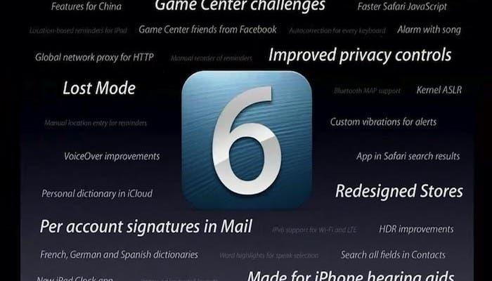 imagen de las novedades de iOS 6