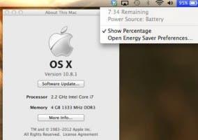 Primera Actualización de OS X Mountain Lion: 10.8.1