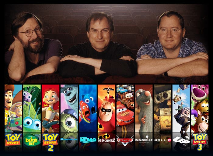 Steve Jobs no solo hizo historia con Apple, si no que también con Pixar
