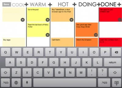 Captura de la aplicación Wall Ideas iPad