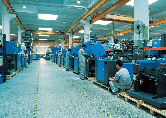 Trabajadores de la fábrica de Foxconn, fabricante de los productos de Apple