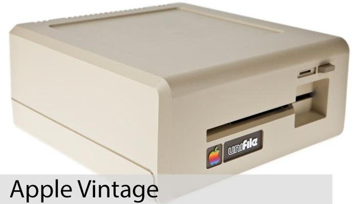 Apple Vintage Unifile Twiggy Drive Perspectiva