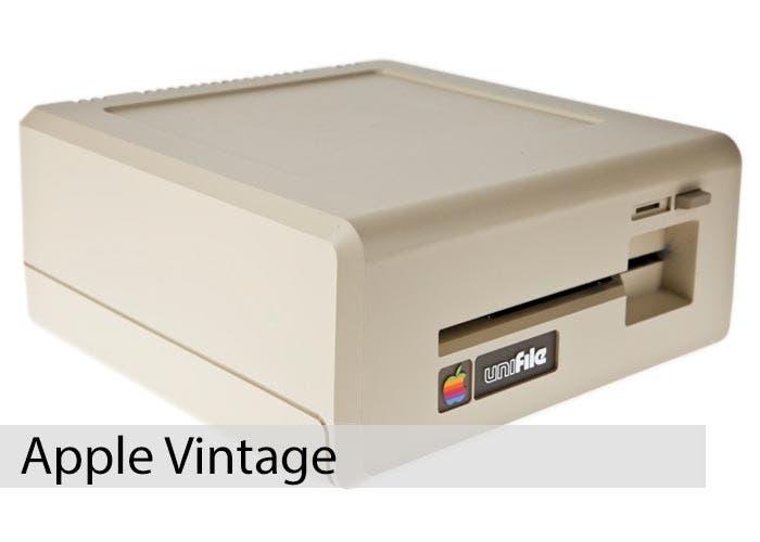 Apple Vintage Unifile Twiggy Drive Perspectiva