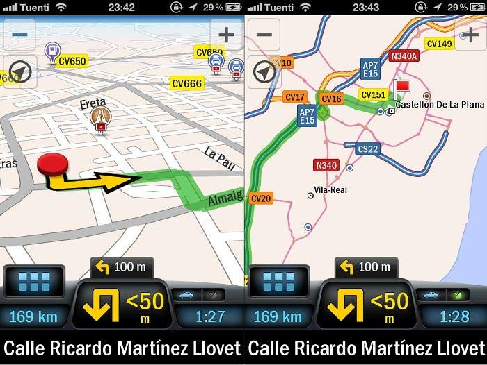 Capturas de los mapas en funcionamiento en CoPilot