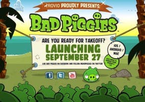 Anuncio del lanzamiento de Bad Piggies