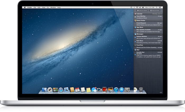 MacBook Air con OS X Mountain Lion
