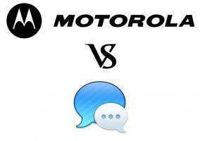 Logos de Motorola y iMessage enfrentados