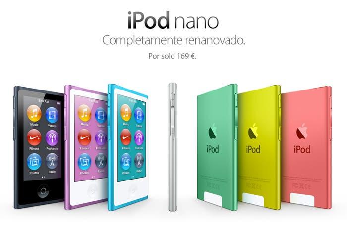 Nuevo diseño en el iPod nano