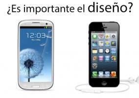 Comparación de diseño entre SIII y iPhone 5
