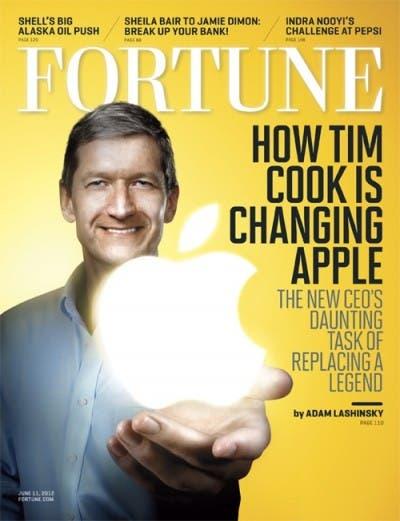 Tim Cook en la portada de Fortune